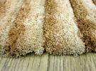 范登伯格 彩之舞 漸層條紋厚蓬地毯-淺棕08-50x80cm
