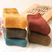 秋冬季襪子女羊毛襪中筒冬季加厚毛圈月子孕婦襪睡眠襪刷毛保暖襪