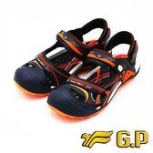 【G.P】男款時尚休閒護趾涼鞋 男鞋-橘(另有藍、黑)