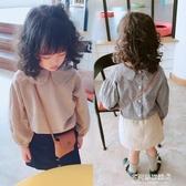 女童長袖襯衫-中小童秋裝新款女童小格子襯衫 兒童洋氣寶寶小清新長袖襯衣 多麗絲
