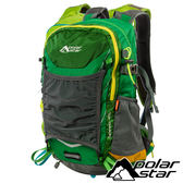 【PolarStar】透氣網架背包25L『綠』露營.戶外.旅遊.自助旅行.多隔間.登山背包.後背包 P17807