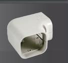 AFC-120  管槽平面L型接頭  冷氣安裝  管槽  空調配管裝飾罩