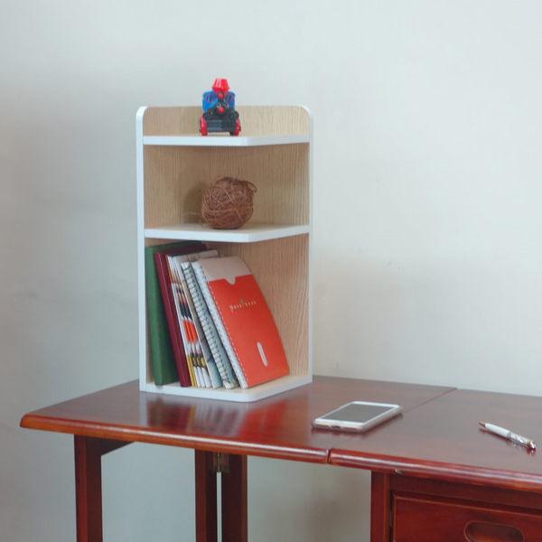 桌上三層轉角收納櫃/角落櫃/置物架/隙縫櫃/空間利用