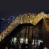 LED小彩燈閃燈串燈星星燈戶外防水滿天星節日裝飾燈冰條窗簾燈串 全館免運