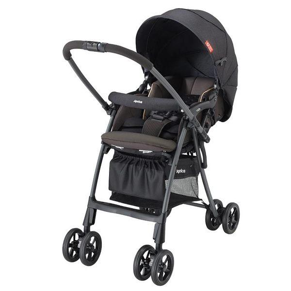 愛普力卡 Aprica LUXUNA CTS 前瞻系列輕量四輪定位嬰幼兒手推車-迷彩黑