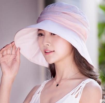 韓版潮大沿防曬遮陽帽防紫外線太陽帽戶外沙灘帽  -com0027