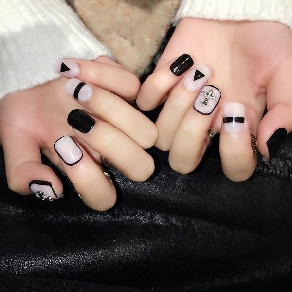 限定款光療感指甲油玉色美甲 精致美甲  假指甲 成品配外套皮衣風衣