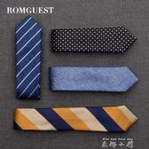 romguest領帶男士韓版6cm窄休閒商務職業學生女正裝新郎結婚定制     米娜小鋪