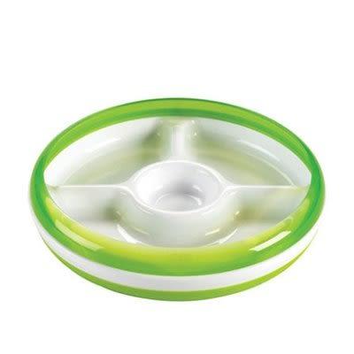 OXO tot 幼兒餵食防滑分格餐盤-綠色