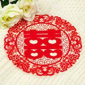 幸福婚禮小物❤傳統圖騰 靜電圓形喜字貼紙(大)❤傳統婚俗用品