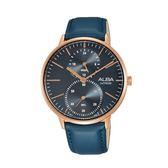 日本ALBA 雅柏  新上市甜美風女錶 VD77-X007B(A3A018X1)藍X玫瑰金