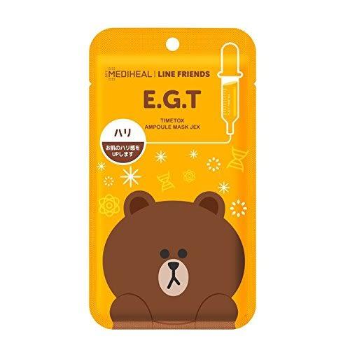 【京之物語】日本製E.G.T MEDIHEAL LIND FRIENDS熊大抗皺修復面膜單片入-現貨