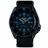 【台南 時代鐘錶 SEIKO】精工 5 Sports 系列 運動潮流機械錶 SRPD81K1@4R36-07G0A 黑/藍 42.5mm