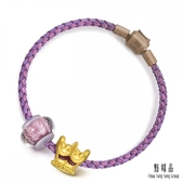 點睛品 Charme Murano Glass 皇冠 彩色琉璃黃金串珠手環
