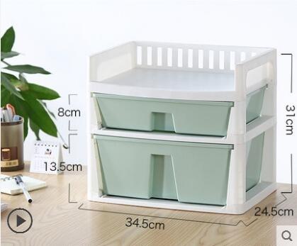 辦公桌收納 辦公室桌上置物架桌面收納架文具文件書桌收納盒抽屜式 亞斯藍