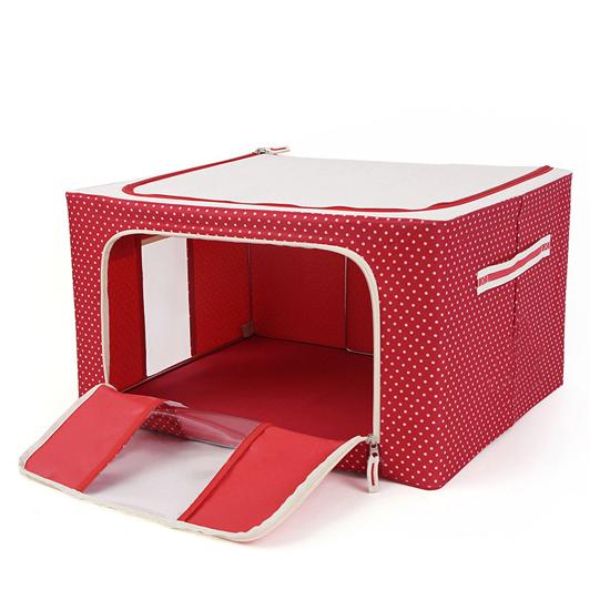 點點折疊鋼架儲物收納箱 22公升 收納盒 衣物 棉被 置物箱 居家收納 收納箱【Z082】慢思行