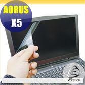 【Ezstick】技嘉 GIGABYTE AORUS X5 15吋 專用 靜電式筆電LCD液晶螢幕貼 (可選鏡面或霧面)