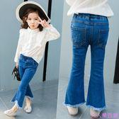 韓版流蘇喇叭褲女童寶寶牛仔褲春秋裝新款兒童裝小童彈力長褲子