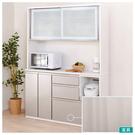 ※圖像使用白色款式,僅供參考。 精巧設計的廚櫃,輕鬆營造時尚的廚房空間。 採用高