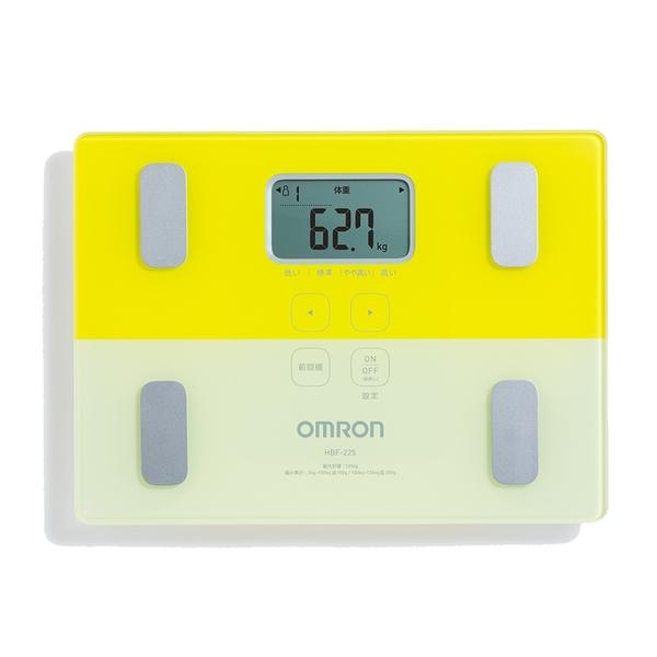 OMRON 歐姆龍 HBF-225 體重體脂計 黃色