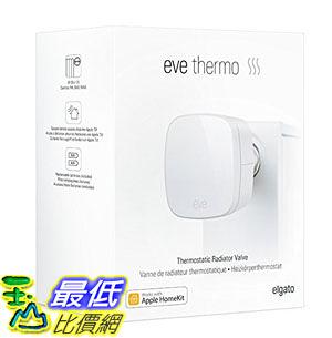 [107美國直購] 溫控器 Elgato Eve Thermo - App-Enabled Thermostatic Radiator Valve with Apple HomeKit technology