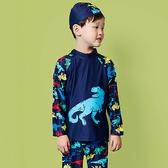 彩色 卡通 印花 萌 兩件套 長袖 兒童泳裝