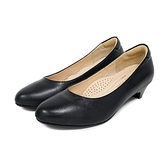 MICHELLE PARK 簡約 ‧ 羊皮圓頭素面低跟鞋〈黑〉