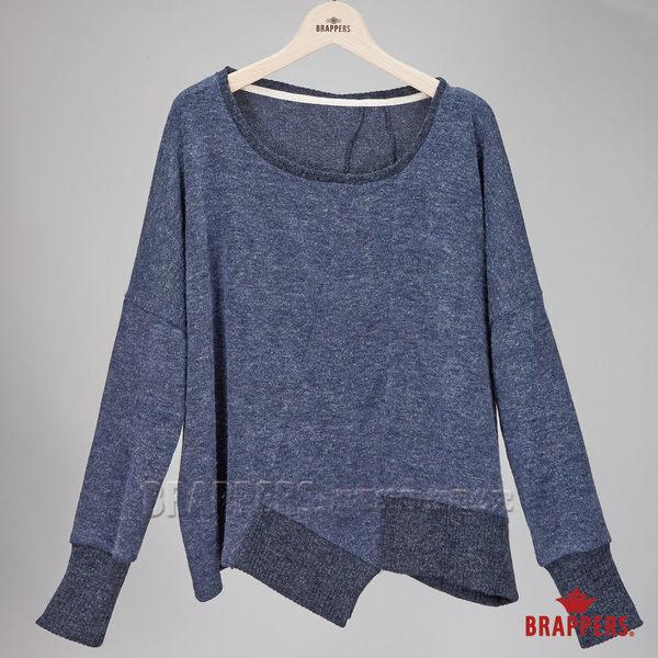 BRAPPERS 女款 女用仿線衫傘狀剪裁上衣-深藍