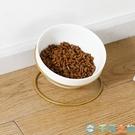 寵物碗架貓碗陶瓷貓碗含鐵架貓食盆【千尋之旅】