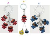 【卡漫城】 芝麻街 鑰匙圈 B款 ㊣版 Sesame Street  Elmo 拉鍊環 餅乾怪獸 吊飾環 掛飾 裝飾品