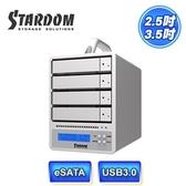 [富廉網]【STARDOM】2.5/3.5吋 USB3.0 eSATA 4bay 磁碟陣列設備 SR4-SB3+