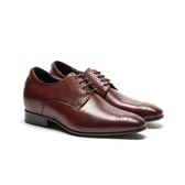 Waltz-菱紋拼接內增高紳士德比鞋 213004-49酒紅
