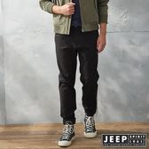 【JEEP】經典美式休閒縮口褲 (黑)