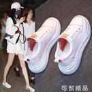 小白鞋女洋氣夏季新款百搭韓版秋季透氣增高網紅學生運動板鞋