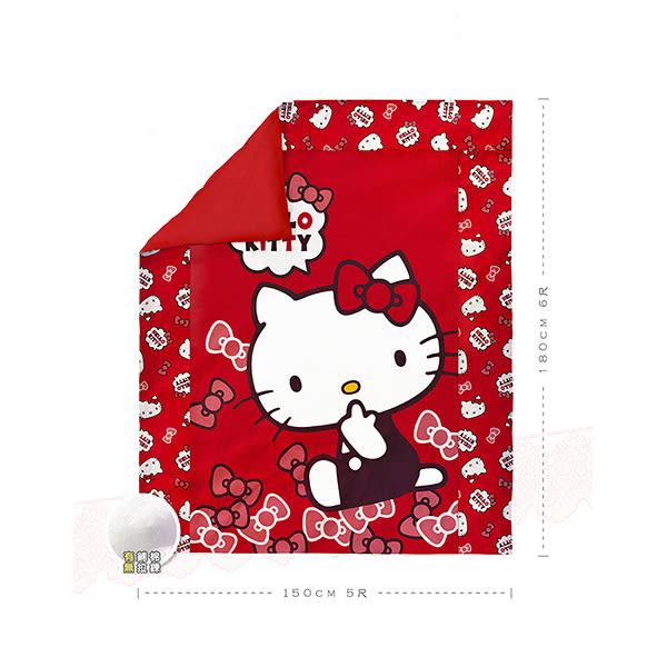 【享夢城堡】單人床包雙人涼被三件式組-HELLO KITTY 經典甜美-粉.紅
