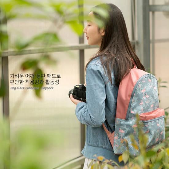 ✭米菈生活館✭【A15】韓版印花雙肩後背包 大容量 收納 置物 旅行 出差 購物 便攜 雙肩 出差 夾層
