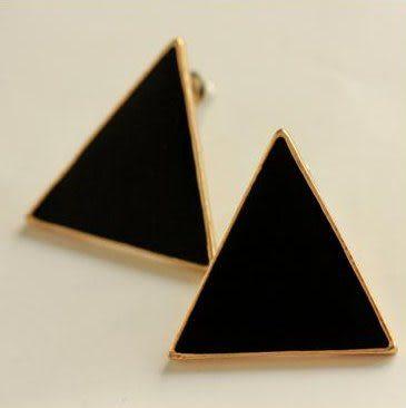 極簡三角型耳環 (共5色)   情人節禮物 【Vogues唯格思】B029