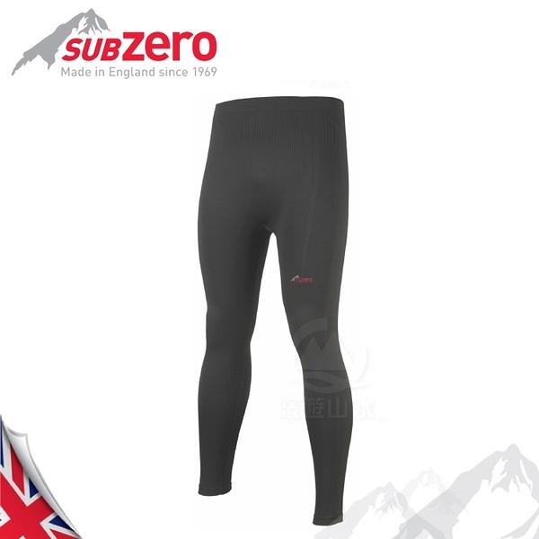【Sub Zero 英國 男款 Factor1+ 排汗長褲《黑》】Factor 1 PLUS/內搭褲/薄長褲/防曬
