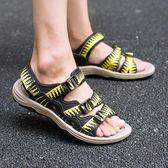 涼鞋男潮沙灘鞋男涼鞋新款防滑涼拖鞋夏季透氣鞋《印象精品》q359