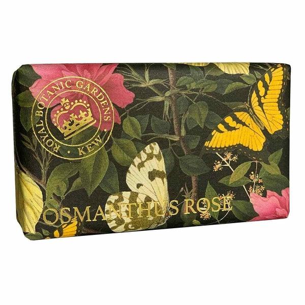 岡山戀香水~Kew Gardens 英國皇家植物園 乳木果油天然香皂 240g (桂花與玫瑰) ~優惠價:299元
