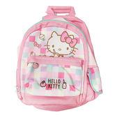 【KP】Hello Kitty 彩色格子後背包 雙層 包包 正版日本進口授權 4901610441626