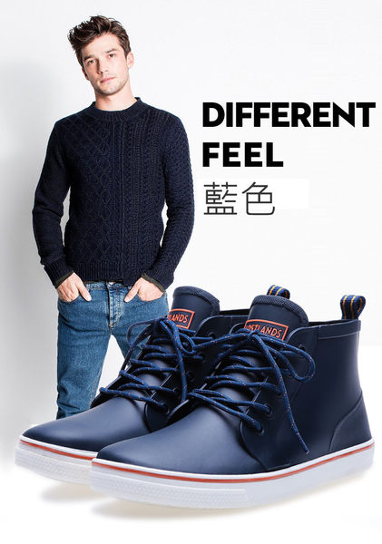 SINGLE單眼皮女孩 韓KOREA 經典時尚休閒短筒造型雨鞋 男款