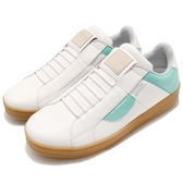 Royal Elastics 休閒鞋 Icon 白 綠 高質感皮革鞋面 無鞋帶設計 橡膠大底 男鞋【PUMP306】 02983040