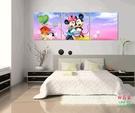 【優樂】無框畫裝飾畫卡通米老鼠客廳沙發背景三聯臥室兒童房臥室