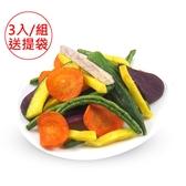 (特惠組)元氣家 綜合蔬菜脆片(100g)x3入+送手提袋