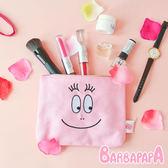 正版 泡泡先生大臉帆布化妝包 帆布 化妝包 收納包 收納袋 Barbapapa