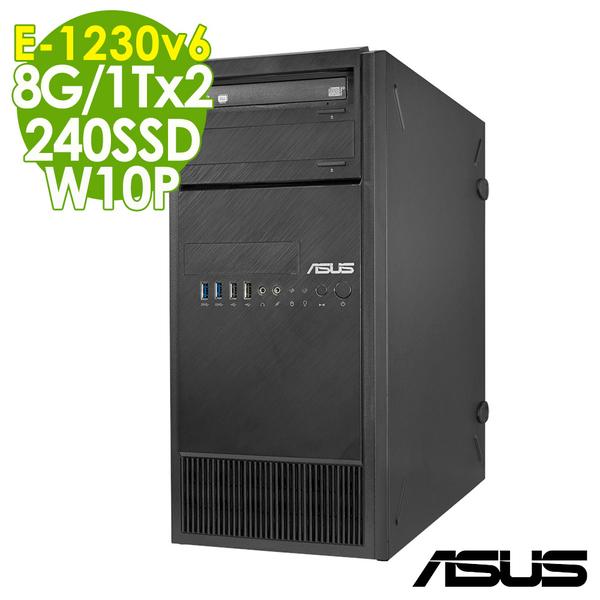 【現貨】ASUS伺服器 TS100-E9 E-1230v6/8GB/240SSD+1TBx2/W10P商用伺服器