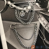 百搭西服個性金屬胸針裝飾鏈子吊墜別針簡約配飾【淘夢屋】