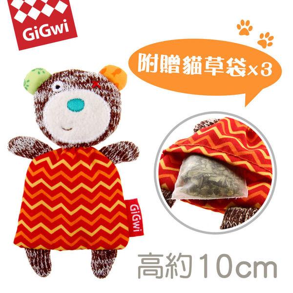【毛麻吉寵物舖】GiGwi就是愛貓草-小棕熊絨毛玩具