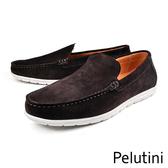 【Pelutini】素面經典休閒鞋 古典咖(7812-DBRS)